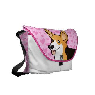 Pembroke Welsh Corgi Love Messenger Bags
