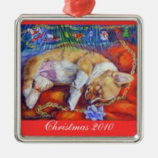 Pembroke Welsh Corgi Ornament Square Premium