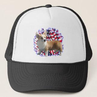 Pembroke Welsh Corgi Patriot Trucker Hat