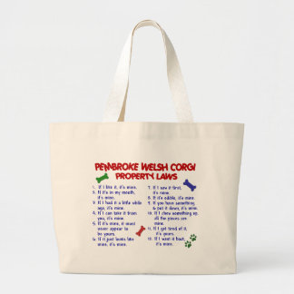 PEMBROKE WELSH CORGI Property Laws 2 Large Tote Bag