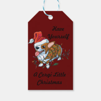 Pembroke Welsh Corgi Puppy Christmas Xmas Lights Gift Tags