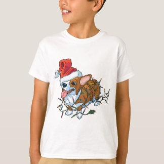 Pembroke Welsh Corgi Puppy Christmas Xmas Lights T-Shirt