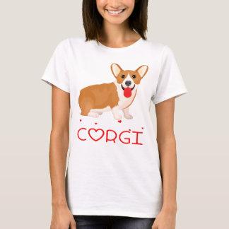 Pembroke Welsh Corgi Puppy Dog Cartoon Red Love T-Shirt