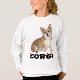 Pembroke Welsh Corgi Puppy Dog Red Love Girls Sweatshirt