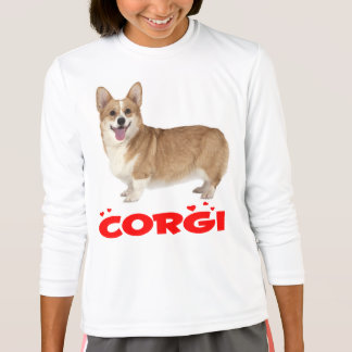 Pembroke Welsh Corgi Puppy Dog Red Love Girls T-Shirt