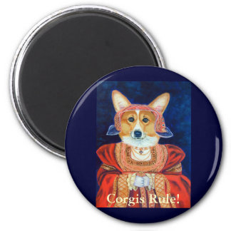 Pembroke Welsh Corgi Queen Magnets