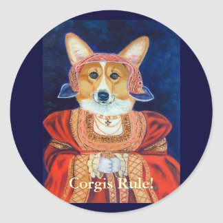 Pembroke Welsh Corgi Queen Stickers
