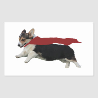 Pembroke Welsh Corgi Rectangular Sticker