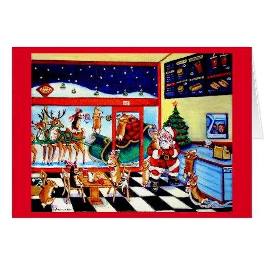 Pembroke Welsh Corgi Santa's Pit Stop Card