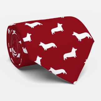 Pembroke Welsh Corgi Silhouettes Pattern Tie