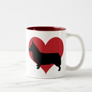Pembroke Welsh Corgi Two-Tone Coffee Mug