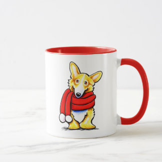Pembroke Welsh Corgi Winter Scarf Mug