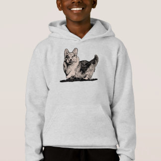 Pembroke Welsh Corgi with a Tail Kid's Hoodie