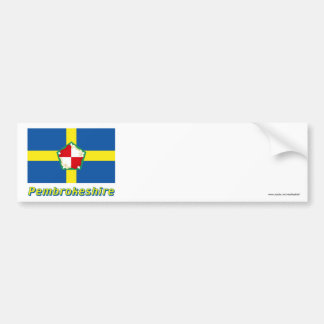 Pembrokeshire Flag with Name Bumper Sticker