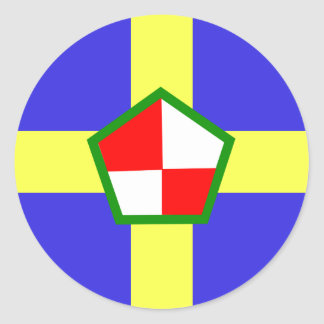 Pembrokeshire, United Kingdom flag Classic Round Sticker