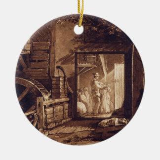 Pembury Mill, Kent, engraved by Charles Turner (17 Christmas Ornament