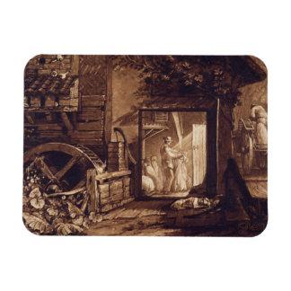 Pembury Mill, Kent, engraved by Charles Turner (17 Rectangular Photo Magnet