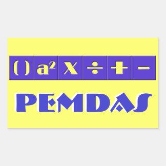 PEMDAS Stickers
