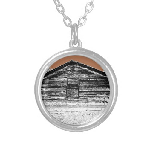 Pen and Ink Abandoned Stable Necklace