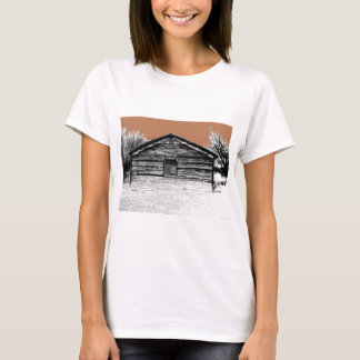 Pen and Ink Abandoned Stable T-Shirt
