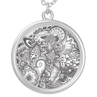 Pen and Ink art necklace
