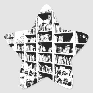 Pen and Ink Book Wall Star Stickers