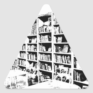 Pen and Ink Book Wall Triangle Stickers