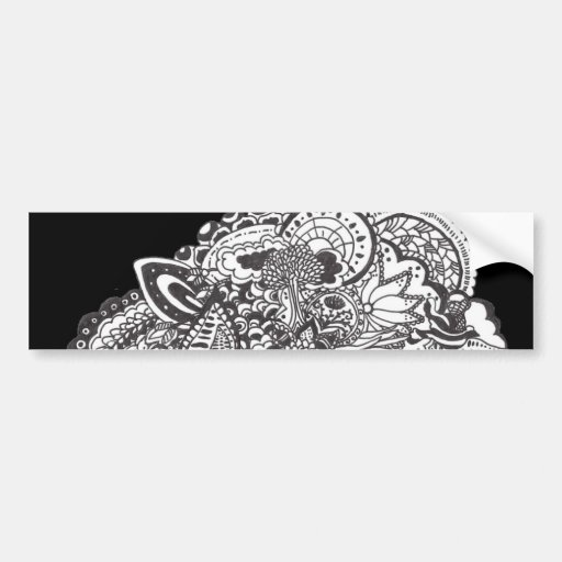 Pen and Ink Drawing Bumper Sticker