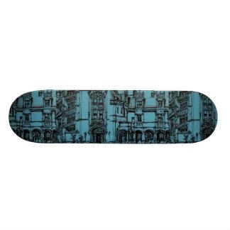 pen and ink drawing custom skate board