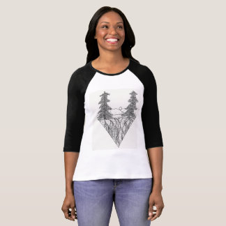 Pen and ink landscape T-Shirt