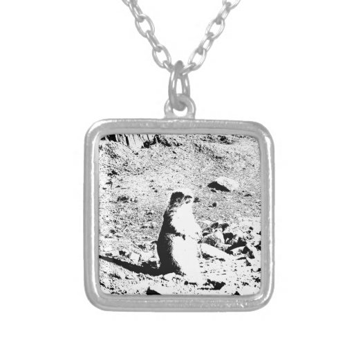 Pen and Ink Prairie Dog Custom Necklace