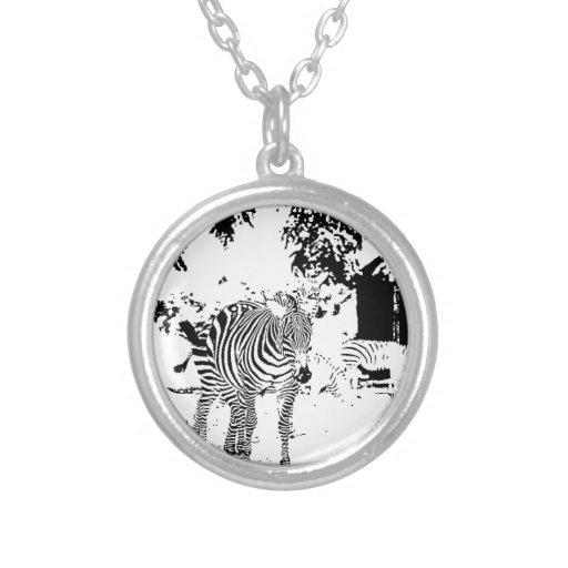 Pen and Ink Zebra Custom Necklace