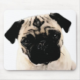 Pen & Ink Pug Mouse Pad