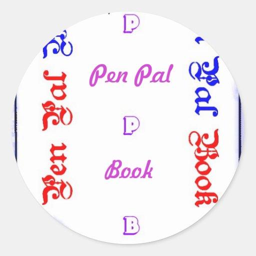 Pen Pal Book Round Sticker