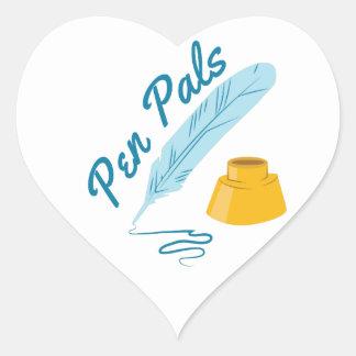 Pen Pals Heart Sticker