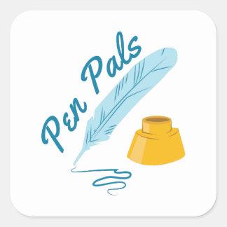 Pen Pals Square Sticker