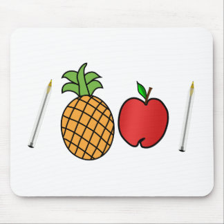 pen pineapple apple pen mouse mat
