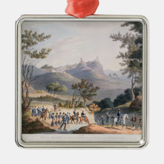 Pena Macor, engraved by C. Turner Christmas Ornament
