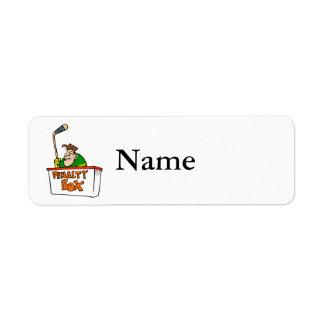 Penalty Box Return Address Label