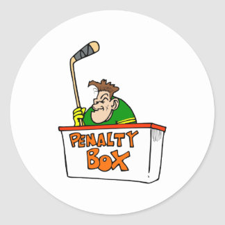 Penalty Box Round Sticker