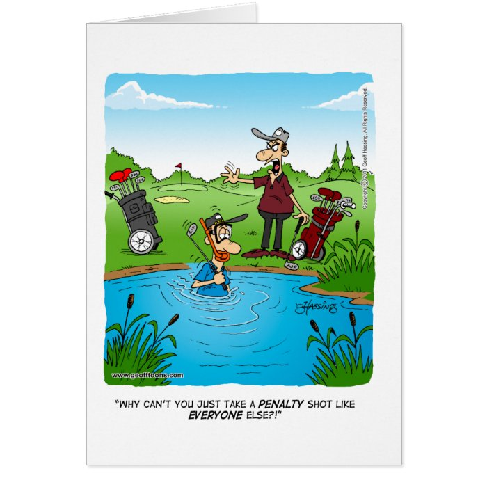 penalty shot greeting card