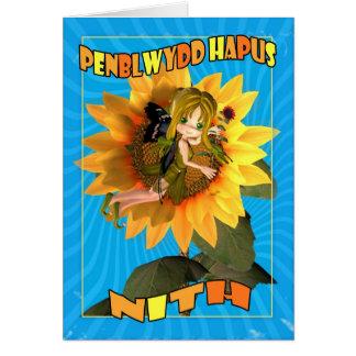 Penblwydd Hapus Nith - Happy Birthday Niece Greeting Card