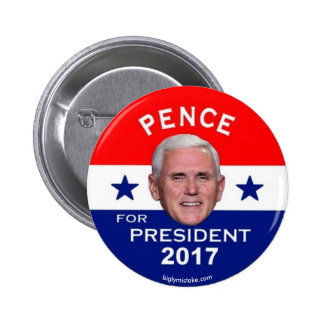 Pence for President 2017 6 Cm Round Badge