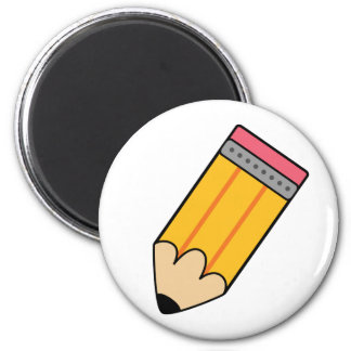 Pencil 6 Cm Round Magnet