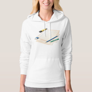 Pencil and Paper Womens Hoodie