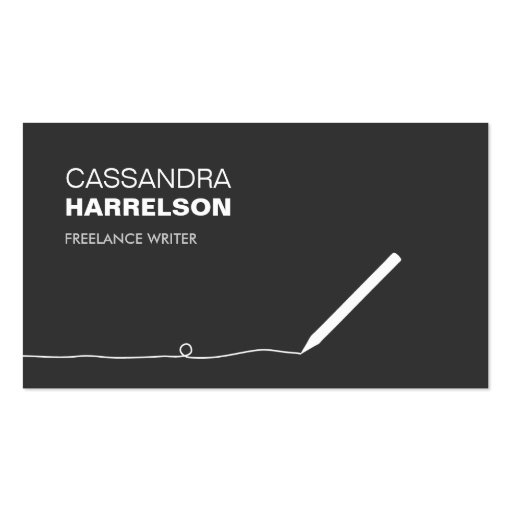 Create your own book editor business cards pencil business card for authors writers ii reheart Choice Image