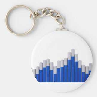 Pencil chart basic round button key ring