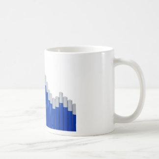 Pencil chart basic white mug