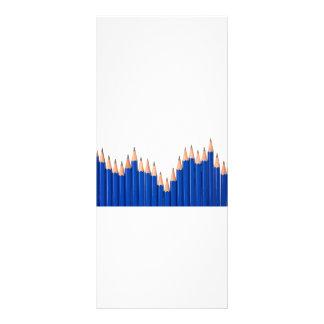 Pencil chart rack card template