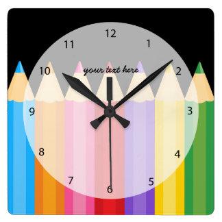 pencil colors * choose your background color wallclocks